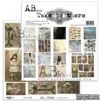 "Набор бумаги от ABstudio - ""Take me there""- scrapbooking paper set 8x 30х30см + bonus"