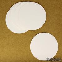 """Тег """"Круг"""" из белого картона, 8 см, 1 шт."""