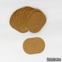 """Тег """"Овал"""" из крафт-картона, 5,5х4 см, 1 шт."""