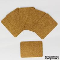 """Тег """"Прямоугольный"""" из крафт-картона, 5,5х4 см, 1 шт."""