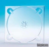 Трей для дисков, прозрачный, квадратный