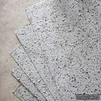 Тутовая бумага, цвет белый с вкраплениями под мрамор