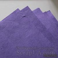 Тутовая бумага ручной работы, цвет сиреневый, формат А4 - ScrapUA.com