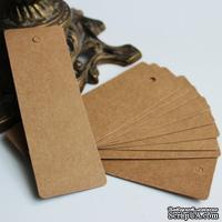 Крафт-тег прямоугольный №1, 11*4 см, картон плотностью 350 мг, 10шт.