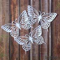 Набор высечек из белого картона - Бабочки, 3 шт.