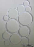 Вырубка из белого картона - Каскад из колец, приблизительные размеры в см: 10,5 x 15,3.