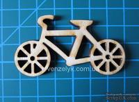 Деревянное украшение от Вензелик - Велосипед, фанера толщиной 0,4 см