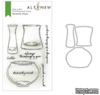 Штампы + Ножи для вырубки от Altenew - Versatile Vases Stamp & Die Bundle, 8 штампов + 3 ножа