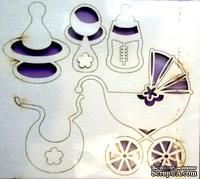 Чипборд от Вензелик - Детский набор, размер набора: 80х90мм