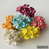 Цветы вишни, цветовой набор, диаметр - 10мм, 90 штук в наборе