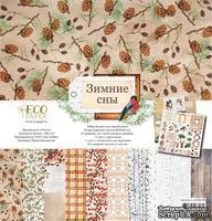 Набор бумаги от EcoPaper - «Зимние сны» 30х30 см, 12 листов - ScrapUA.com