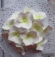 Гортензии из фоамирана,  диаметр 35 мм, цвет белый, 5 шт.