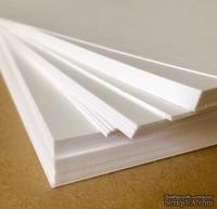 """Лист картона, белый, 280 г/м, американский формат, 8,5""""х11"""" - ScrapUA.com"""