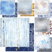 Набор двусторонней бумаги для скрапбукинга Зимння тайна, 6 листов, дизайн Елены Виноградовой, 30х30см, 200г/м