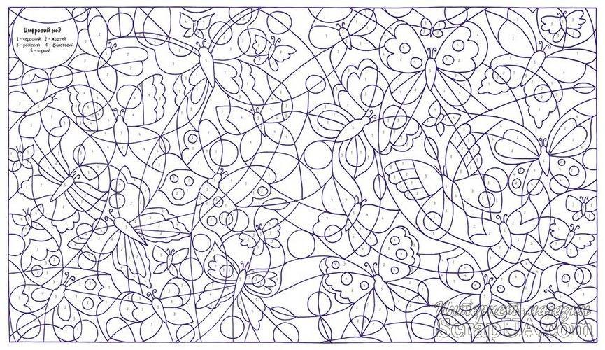 """Книга-раскраска для детей """"Велика розмальовка з цифрами ..."""
