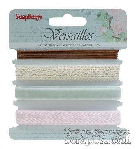 Набор декоративных лент Scrapberry's - Версаль, 4 шт. по 1 м - ScrapUA.com