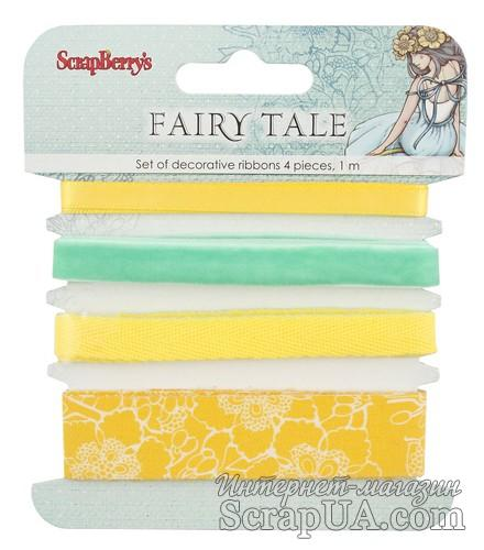Набор декоративных лент от Scrapberry's - Сказка про Фей, 4шт. по 1м - ScrapUA.com