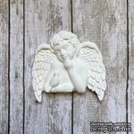"""Гипсовое украшение """"Ангел с птичкой"""" от Е.В.A, 5х5см, 1 шт. - ScrapUA.com"""