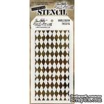 "Маска Tim Holtz  - Stampers Annon Layered Stencil 4.125""X8.5"" - Harlequin - Ромбы - ScrapUA.com"