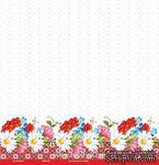 """Лист от ТМ ЕК - Цветы и орнамент, коллекция """"Украина"""" (выборочный глиттер), 30х30 см - ScrapUA.com"""
