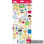 "Наклейки от Doodlebug - Cardstock Stickers 6""X13"" - School Days Icons - ScrapUA.com"