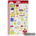 Наклейки от Doodlebug - Mini Cardstock Stickers - School Days Icons, 2 листа, 100 штук - ScrapUA.com