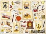 """Декупажная карта """"Джентльменские предметы"""", размер: 29,5х40 см - ScrapUA.com"""