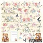 Лист с картинками для вырезания Baby shabby 30,5х30,5 см, ТМ Фабрика Декора - ScrapUA.com