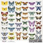"""Лист с картинками для вырезания """"Бабочки-7"""", TM Fabrika Decoru - ScrapUA.com"""