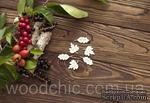 Чипборд Набор кленовые и дубовые листья от WOODchic,  2.5 на 2.5см - ScrapUA.com