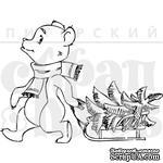 Штамп от Питерского скрапклуба - Мишка С Елочкой - ScrapUA.com