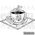 Штамп от Питерского скрапклуба - Кофе С Крендельком - ScrapUA.com