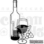 Штамп от Питерского скрапклуба - Вино - ScrapUA.com