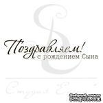Штамп от Питерского скрапклуба - Поздравляем С Рождением Сына - ScrapUA.com