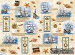 """Декупажная карта """"Морские мотивы"""", размер: 29,5х40 см - ScrapUA.com"""