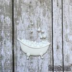 Ванна, пластиковое украшение от Е.В.A, белая, 3,5х2см - ScrapUA.com