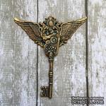 Пластиковое украшение Ключ Стипманк, под античное золото от Е.В.A, 6,7х6см - ScrapUA.com