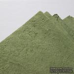 Тутовая бумага ручной работы, цвет зеленый, формат А4 - ScrapUA.com