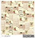 Лист бумаги для скрапбукинга от Magnolia - LOVE POSTCARD - ScrapUA.com