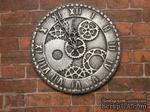 Гипсовые часы под серебро с мерцанием от Е.В.А. 3,5 см - ScrapUA.com