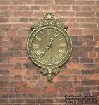 Гипсовые часы под античное золото с мерцанием, от Е.В.А. 7x4,5 см - ScrapUA.com