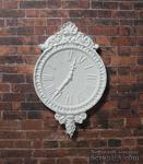 Гипсовые белые часы, от Е.В.А. 7x4,5 см - ScrapUA.com