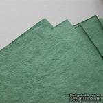 Тутовая бумага ручной работы, цвет мятный, формат А4 - ScrapUA.com