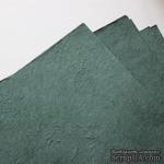 Тутовая бумага ручной работы, цвет темно-зеленый, формат А4 - ScrapUA.com