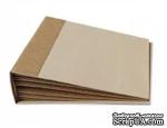 АЛЬБОМ 20*20 см, крафт-картон,  400 г/м2 10 листов + обложка - ScrapUA.com
