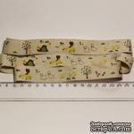 Лента от Thailand - Lovely Girl Dog Ducks Print Linen Ribbon Label String, 1 метр - ScrapUA.com