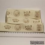 Лента от Thailand - Home Made Brown Pattern Print Cotton Ribbon Label String, 1 метр - ScrapUA.com