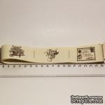 Лента от Thailand - Lovely Flower Print Cotton Ribbon Label String, 1 метр - ScrapUA.com
