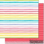 "Лист скрапбумаги от Lawn Fawn - Really Rainbow Double-Sided Cardstock 12""X12"" Ruby Red, 30х30 см - ScrapUA.com"