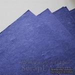 Тутовая бумага ручной работы, цвет индиго, формат А4 - ScrapUA.com